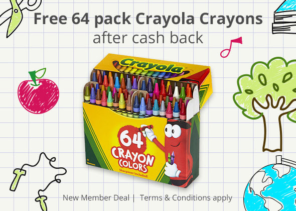 FREE 64-pack of Crayola Crayon...