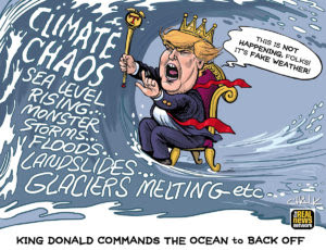 King Donald Commands the Ocean to Back Off