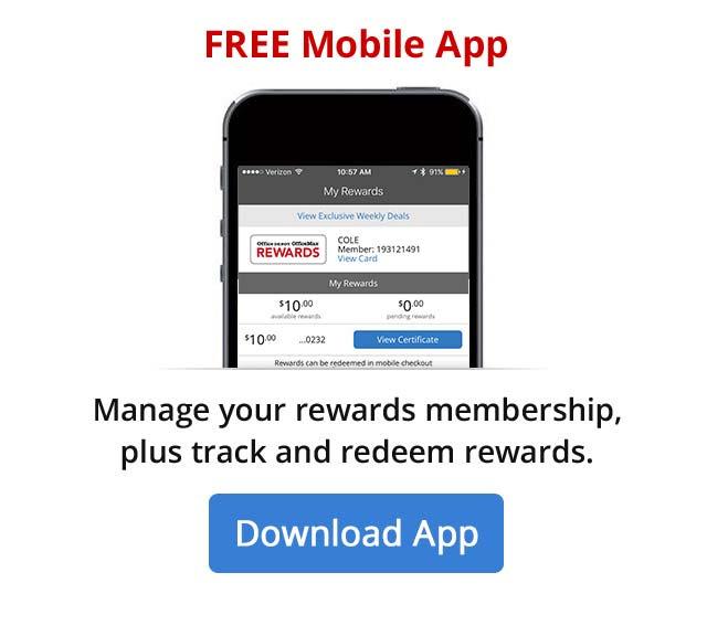 Manage your rewards membership through the mobile app