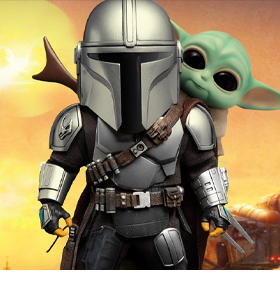 The Mandalorian Egg Attack Action EAA-111 The Mandalorian & The Child Duo Pack