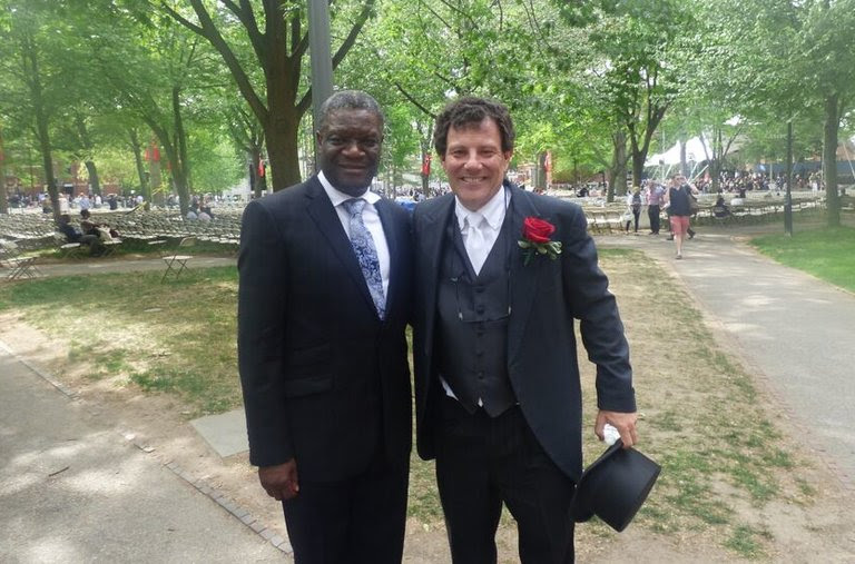 With Dr. Denis Mukwege at Harvard's graduation.