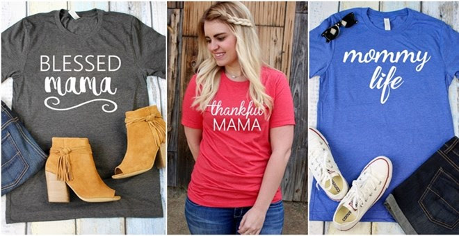 Blessed and Thankful Mom Tees!