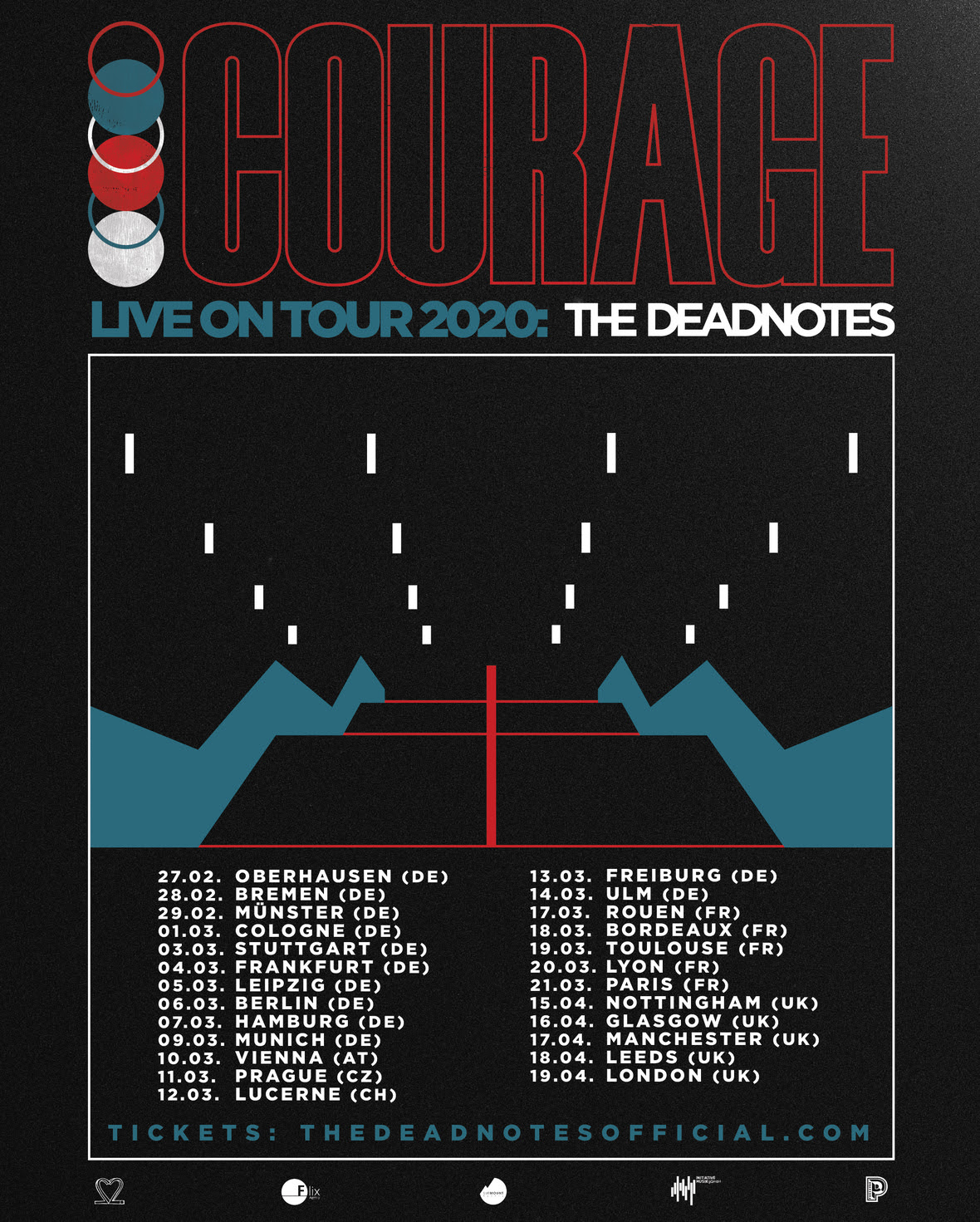 Tourposter ALL DATES INSTA 2