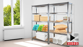 1 or 2 5-Tier Heavy Duty Metal Shelving Units
