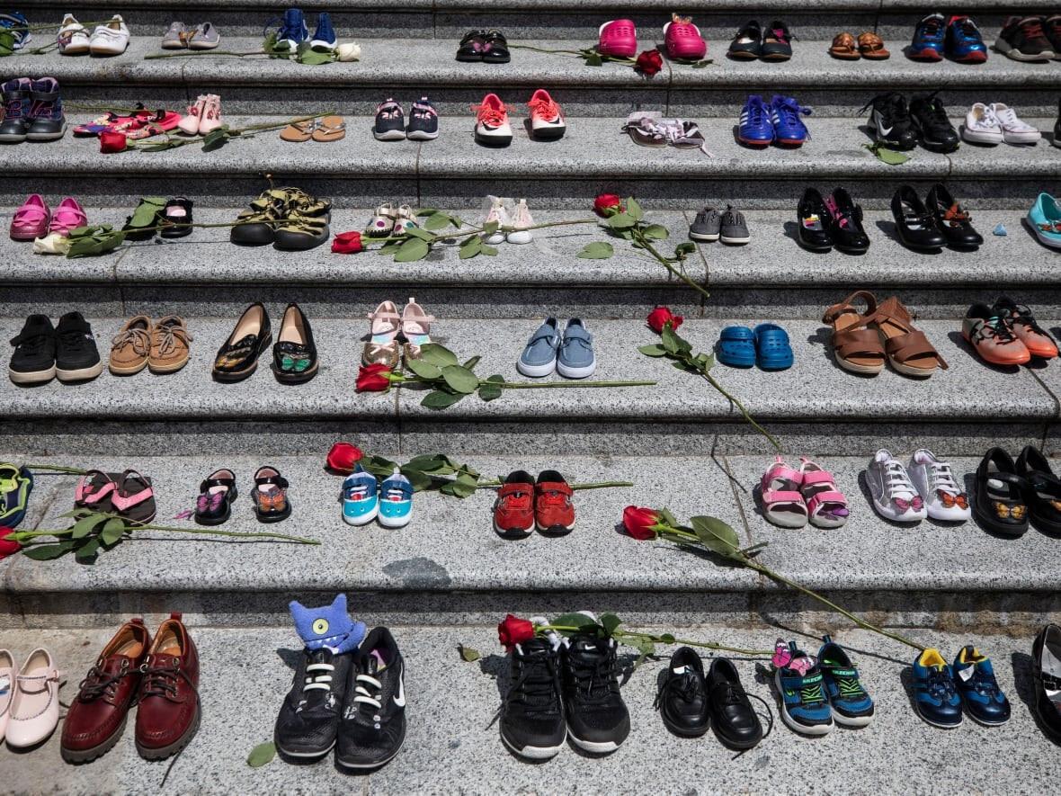 Ben Nelms/CBC: Memorial at the Kamloops Indian Residential School