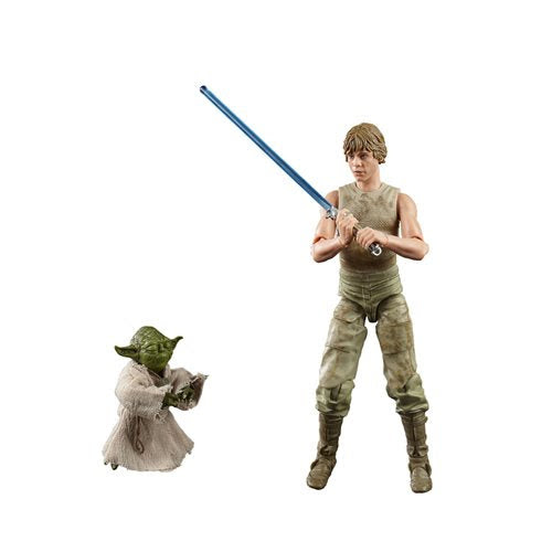 Image of Star Wars The Black Series Luke Skywalker and Yoda (Jedi Training) 6-Inch Action Figures