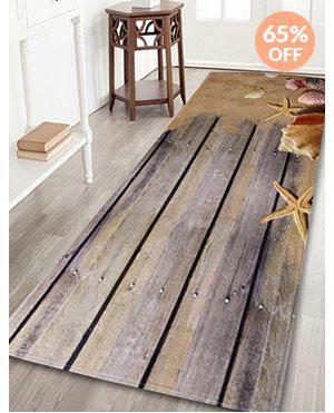 Velvet Plank Shell Area Rug