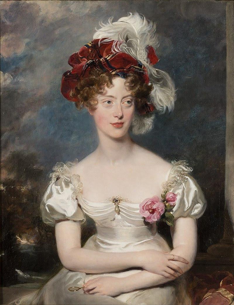 Мария Каролина Неаполитанская, вдовствующая герцогиня и предводительница партизан-роялистов. Портрет работы Томаса Лоуренса