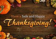 Have a safe and happy Thanksgiving!