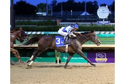 Elate strides out to the wire in the Fleur de Lis Handicap at Churchill Downs