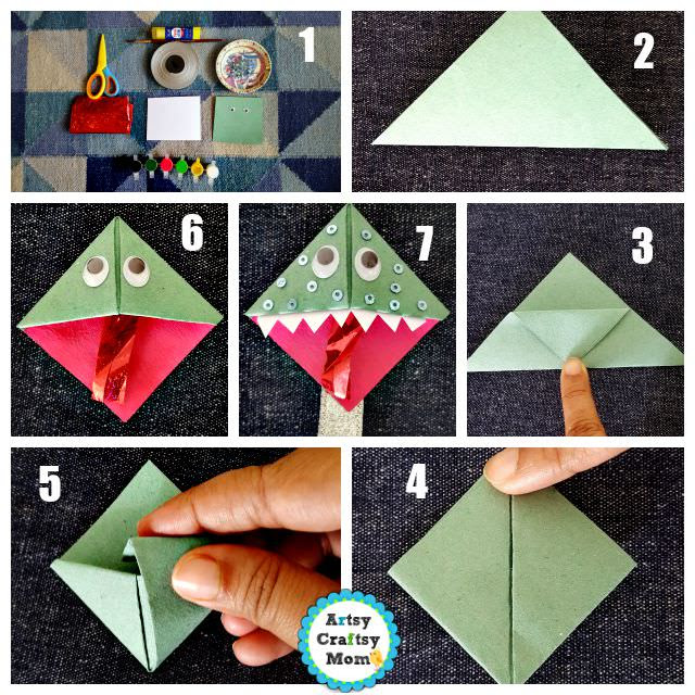 Easy Owl Origami Bookmark Design - Red Ted Art - Make crafting with kids  easy & fun | 640x640