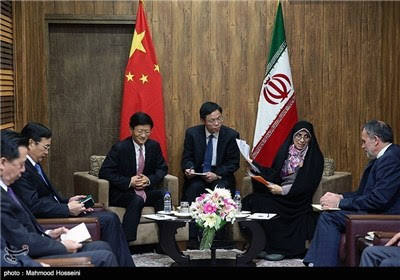 Iran's Vice-President Meet Chinese Delegation
