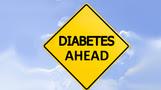 caution sign reading Diabetes Ahead