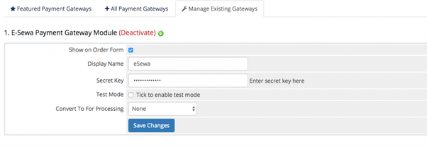 How to Add eSewa Payment Gateway in WHMCS? 1