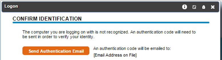 (i.e. sending an authentication code to your phone or email, see sample below)