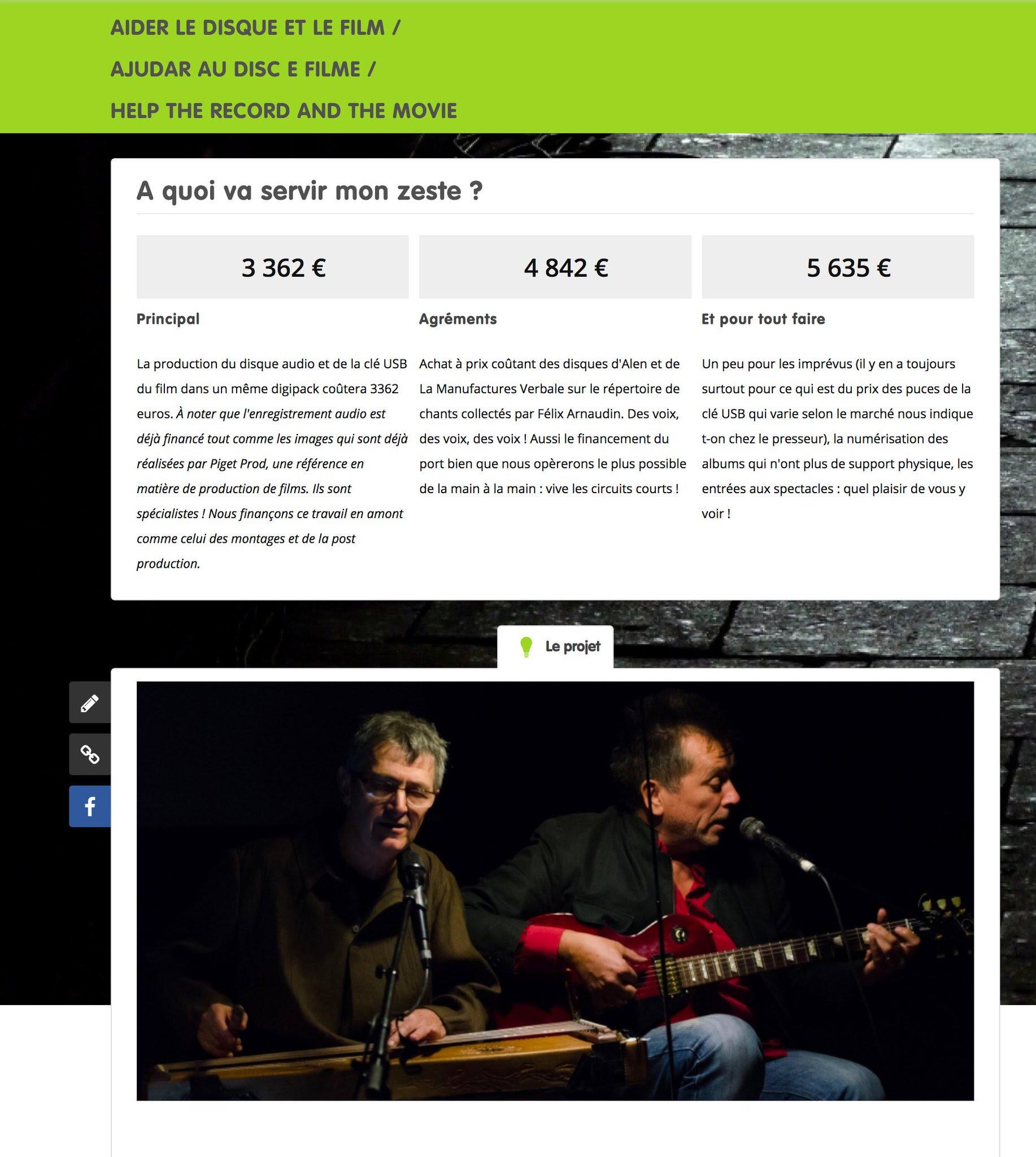 Site Zeste per Tralhaires de Joan Francés Tisnèr