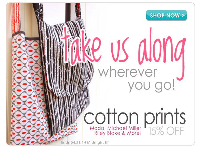 15% Off Select Designer Cotton Prints