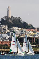 J/22s sailing San Francisco waterfront