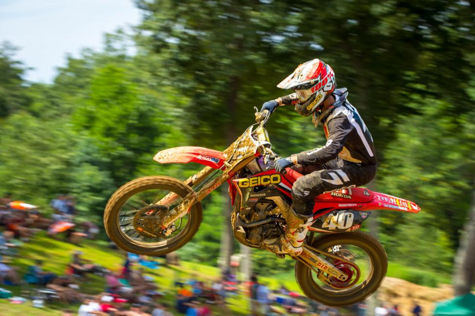 It was a battle of the GEICO Honda's in Moto 2 as Chase Sexton finished second overall (7-2).