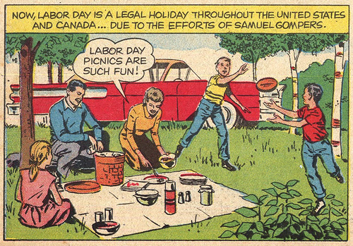 Labor day cartoon