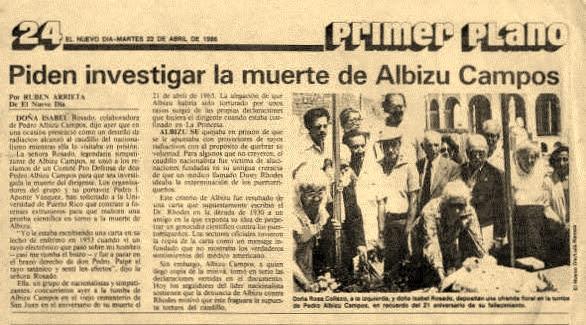 radiation torture of Albizu Campos