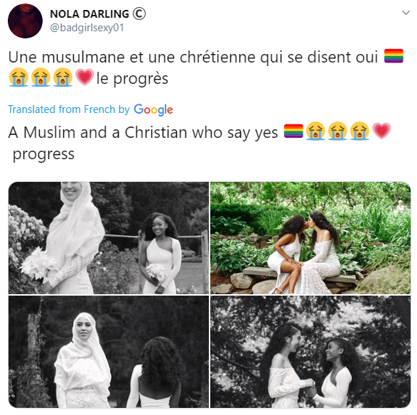 Outrage as Muslim and Christian lesbian couple wed