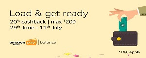 Load Amazon Pay and get 20% cashback