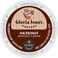 Gloria Jeans Hazelnut Keurig Kcup coffee