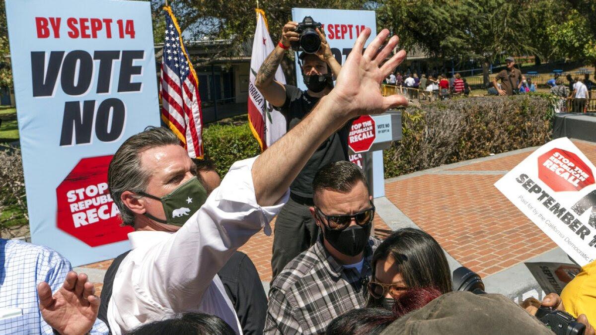 California Gov. Gavin Newsom rebuffs recall effort and keeps office