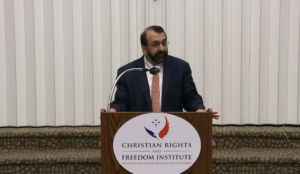 Video: Robert Spencer speaks at Christian Rights and Freedom Institute, explains why Muslims persecute Christians