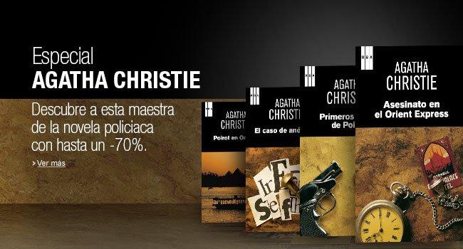 Las novelas más populares de Agatha Christie con descuentos de hasta un 70% en la Tienda Kindle.