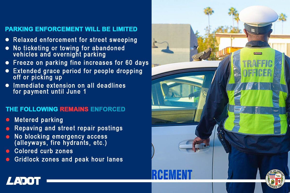 LADOT Relaxed Enforement & Enforcement