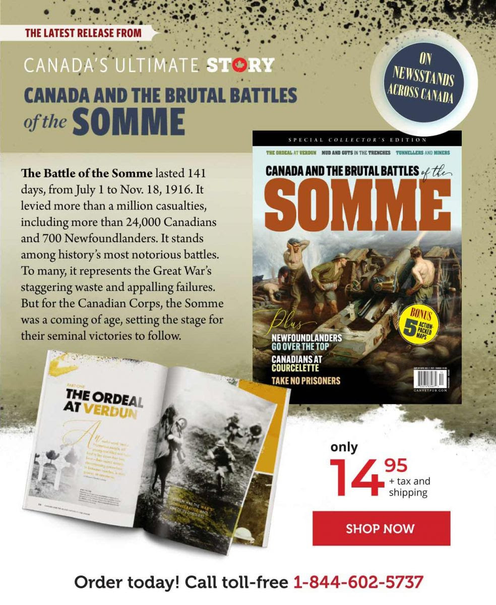 Canada and the brutal battles of the somme