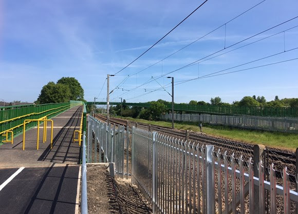 New footbridge opens to public making crossing the railway into the Lea Valley safer