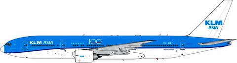 Boeing 777-300ER KLM ASIA PH-BQF,'100 Years' | is due: October 2019