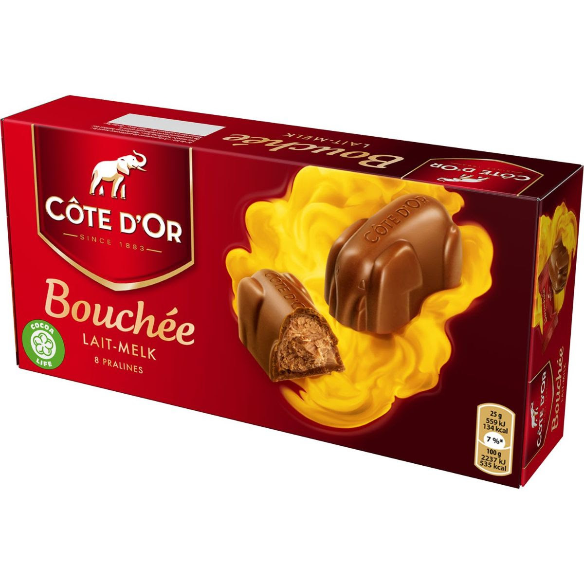 Cote D'or Bouchee Milk 8 Pack 200g