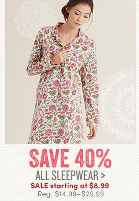 40% OFF Sleepwear at World Mar...