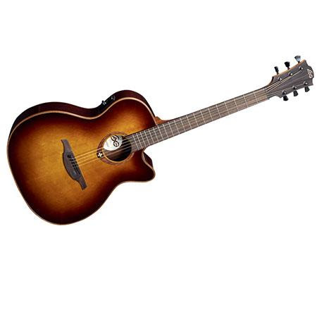 Tramontane T100ACE Auditorium Cutaway Acoustic-Electric Guitar, Solid Red Cedar Top, 20 Fr