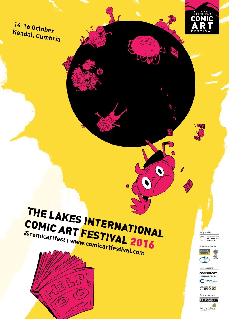 2016 Lakes International Comic Art Festival Poster by Ken Niimura Revealed