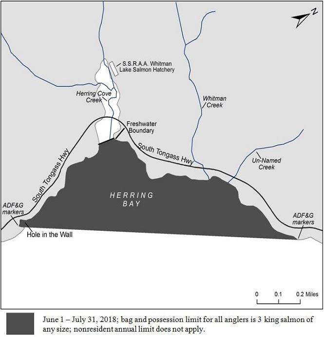 Hatchery King Salmon Limits Increased in Herring Bay Area