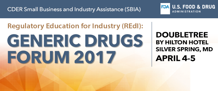 CDER SBIA Generic Drugs Forum