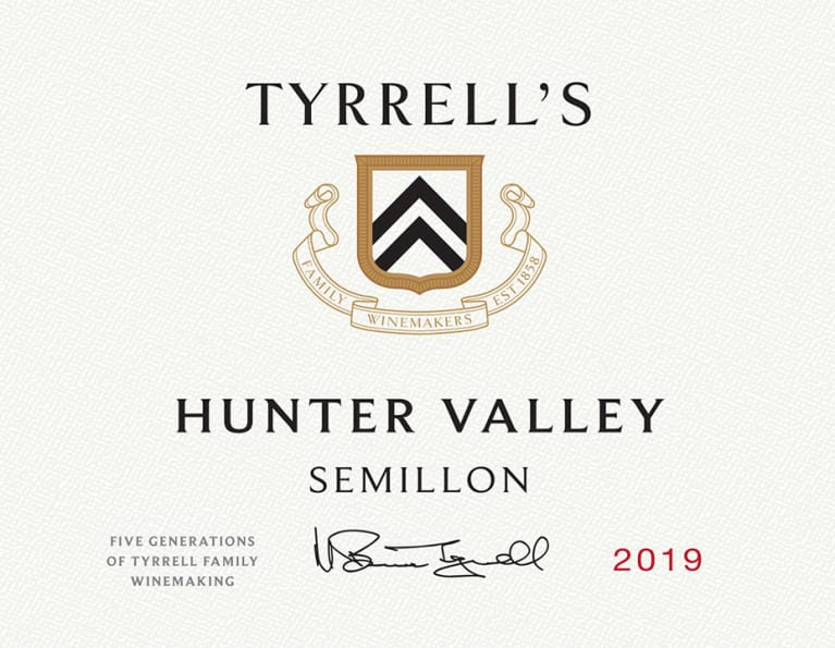 Tyrrell's Hunter Valley Semillon 2019  Front Label