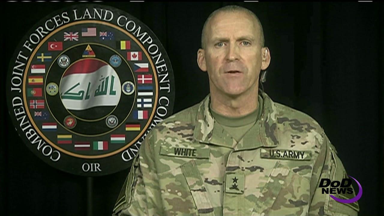 Inherent Resolve Land Component Commander Briefs Pentagon Reporters