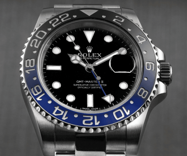 GMT Master Batman with round hour markers