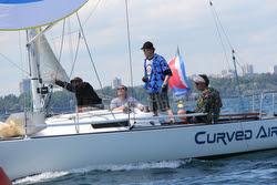 J/27 Curved Air winning North Americans