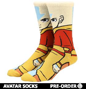 Avatar: The Last Airbender Aang 360 Character Crew Socks