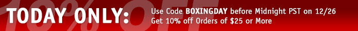 TODAY ONLY: Use Code BOXINGDAY, Get 10% off Orders of $25 or More. →