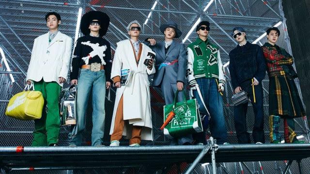 BTS desfila para a Louis Vuitton em evento em Seul