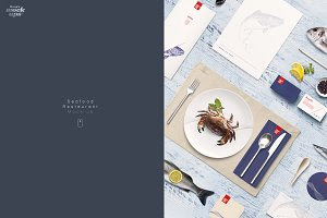 Fish & Seafood Restaurant Mock-up