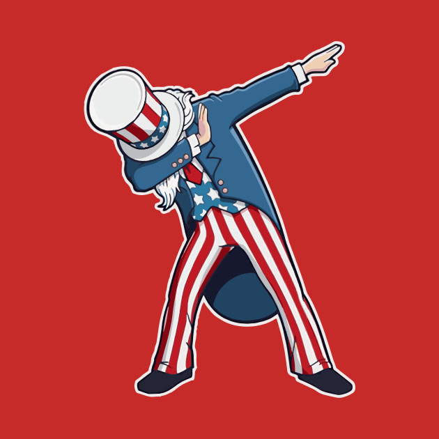 4th of July Dabbing Uncle Sam